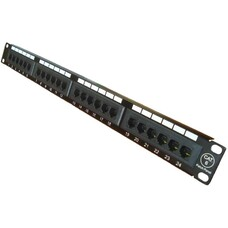 "24 ports UTP Cat.6 patch panel, LY-PP6-04, 19"" Krone & 110 Du"