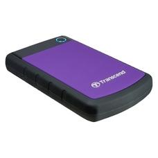 """2.0TB Transcend """"StoreJet 25H3P"""", Rubber, Grey/Violet"""