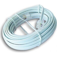 4 core telephone flat cable,TEL4W, 28AWG 2.2X4.5MM 100M/ROLL white