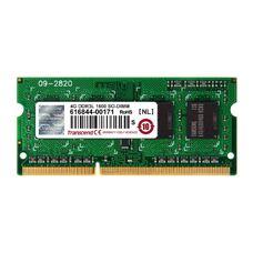 4GB DDR3 1600MHz SODIMM 204pin Transcend PC12800, CL11, 1,35V