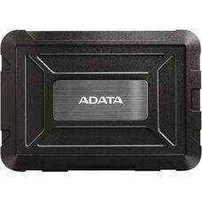 "2.5"" SATA HDD/SSD External Case (USB3.0) ADATA ED600, Black, IP54 Wate"