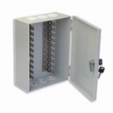 Box for plinths, 100 pair, installed 10 pair back mount plate