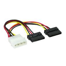 Cable Serial ATAx2   15 cm, Power, CC-SATA-PSY