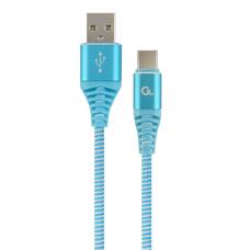 Cable USB2.0/Type-C - 2m - Cablexpert CC-USB2B-AMCM-2M-VW, Blue/White