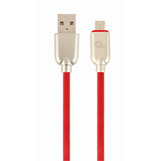 Cable USB2.0/Micro-USB  - 2m - Cablexpert CC-USB2R-AMmBM-2M-R, Red