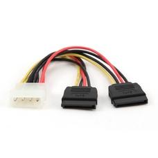 Cable Serial ATAx2   30 cm, Power, Gembird, CC-SATA-PSY-0.3M