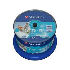 CD-R   Printable  50*Cake, Verbatim, 700MB, 52x, AZO PRO, Printable NO ID B