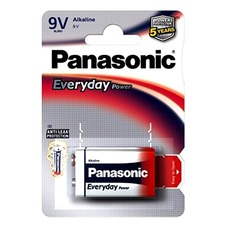 "Crona 9V  Panasonic ""EVERYDAY Power"" Blister*1, Alkaline, 6L"