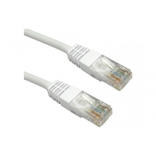"FTP Patch Cord Cat.5E, 0.25m, molded strain relief 50u"" plugs, PP"