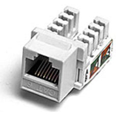 Keystone Jack RJ-45 cat.5E, KJ5-01, 110 Type, White