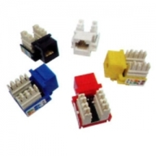 Keystone Jack RJ-45 cat.5E, KJ5-01, 110 Type, Yellow