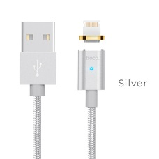 Magnetic Lightning Cable Hoco, U16, Silver