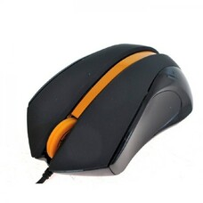 Мышь A4Tech N-310-1, USB, Black+Orange