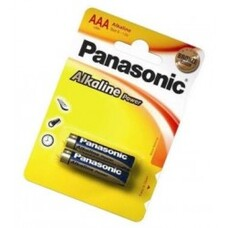 "Panasonic ""ALKALINE Power"" AAA Blister* 2, Alkaline, LR03REB"