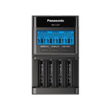 "Panasonic ""Smart charge"" Charger 4-pos AA/AAA, BQ-CC65, with LCD"
