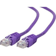Patch Cord     3m, Purple, PP12-3M/V, Cat.5E, Gembird, molded strain r