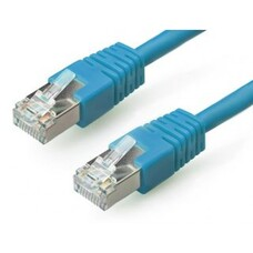 "Patch Cord Cat.5E, 2m, Blue, molded strain relief 50u"" plugs"