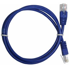 "Patch Cord Cat.6, 2m, Blue, molded strain relief 50u"" plugs, PP6-"