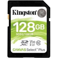 128GB  SDXC Card (Class 10) UHS-I , U1, Kingston Canvas Select Plus