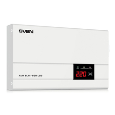 Stabilizer Voltage SVEN AVR -500 LCD, SLIM 500W