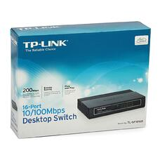 Коммутатор 16-port TP-LINK  TL-SF1016D, Plastic Case